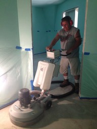 Concrete Floors Being Stained