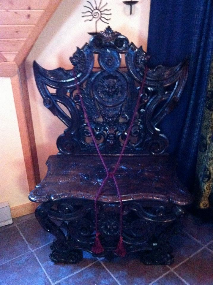 Ritual Throne from a 19th century German Lodge